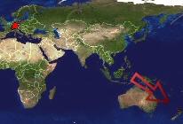 Weltkarte mit den Besuchern