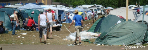 Southside Festival 2007 - Sonntag - Zeltplatz