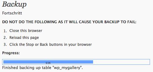 Datenbankbackup