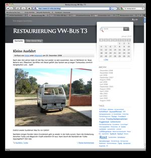 """T3-Infos Blog """"Restaurierung VW-Bus T3"""""""