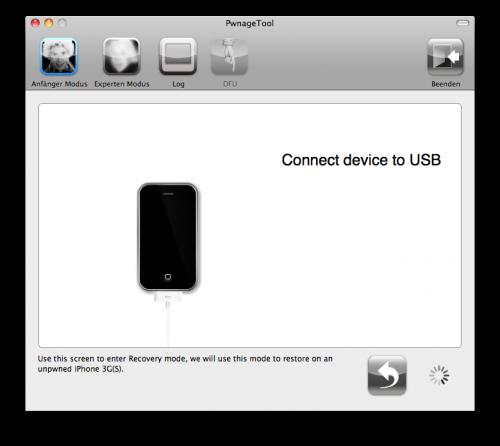 Jetzt das iPhone mit dem Mac verbinden.