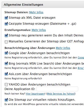 Google XML Sitemap via WordPress Plugin