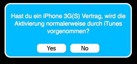 """Bei offiziellen Vertragsgeräten """"Yes"""", bei SIM-Lock-Geräten """"No""""!"""