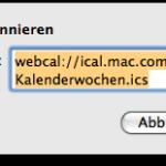 Kalenderwochen anzeigen in iCal