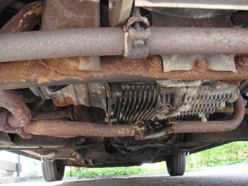Verrosteter WBX-Motorhalter am T3