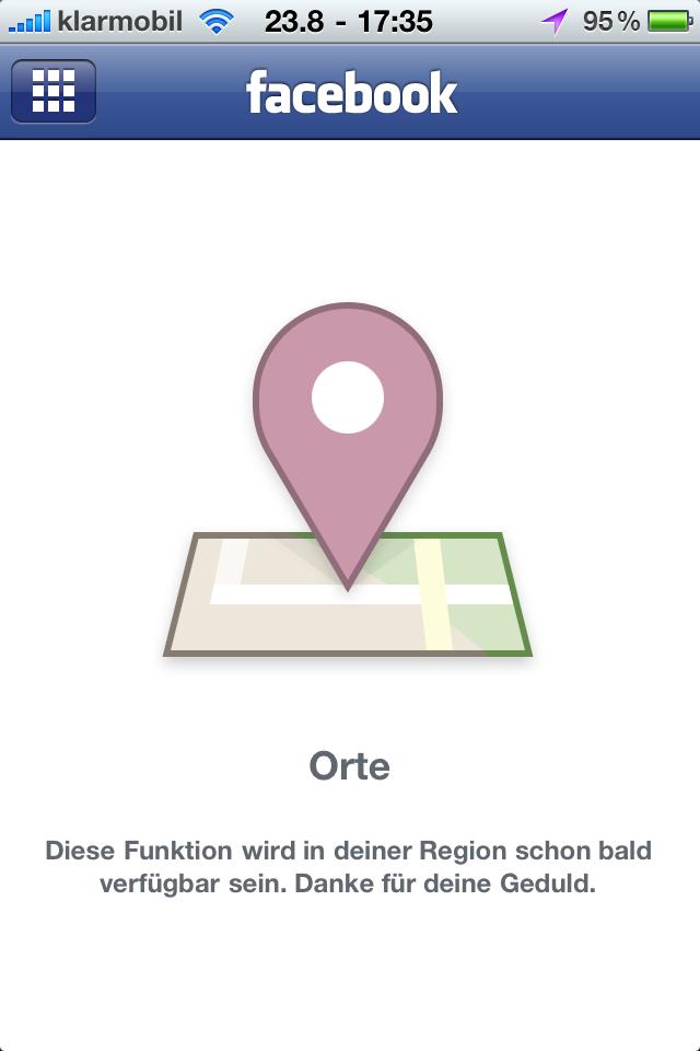 Facebooks Orte