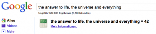 The Answer To Life, The Universe And Everything - 42