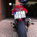 Kawasaki Z1000 Rear Makeover