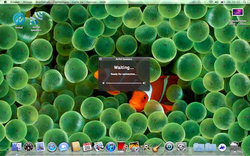 Airfoil Speakers auf Macbook gestartet