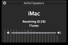 Airfoil Speakers empfängt vom iMac