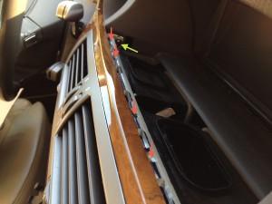 BMW e65 745i Edelholzleiste Panel ausbauen Lueftung Mitte 2
