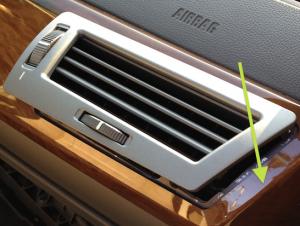 BMW e65 745i Edelholzleiste Panel ausbauen Lueftung rechts Mutter