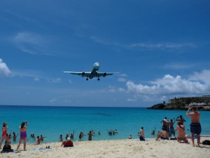 Flugplatzstrand auf St. Maarten