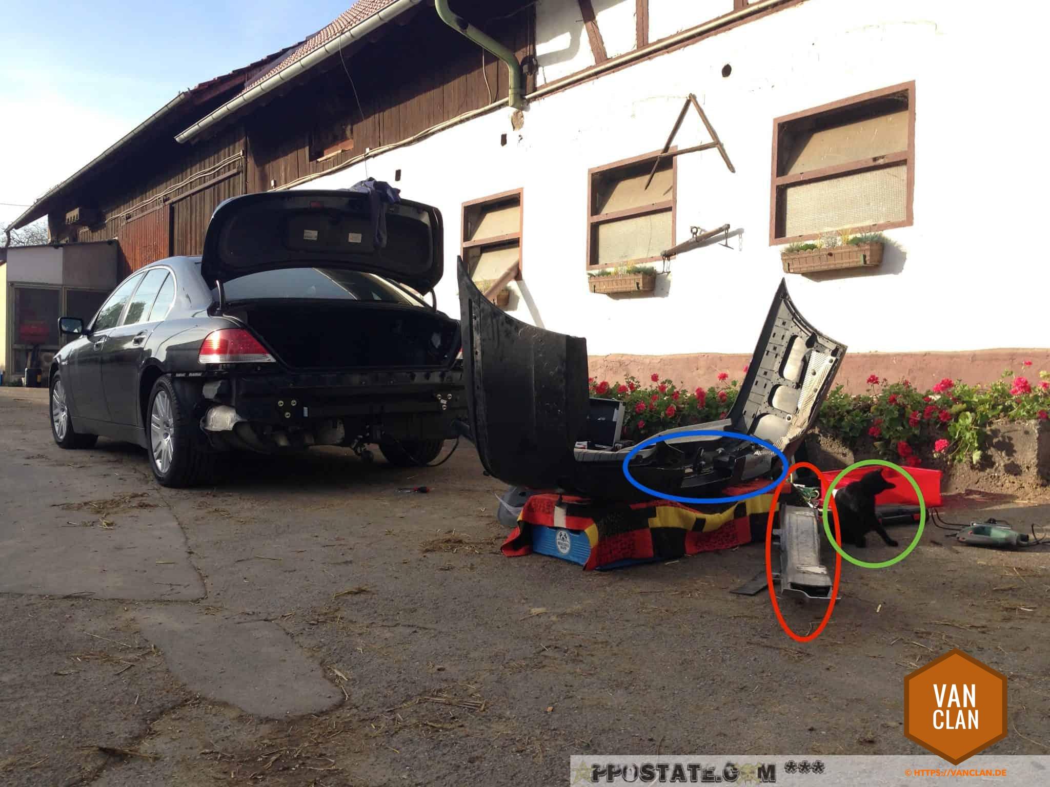 Anleitung: Anhängerkupplung nachrüsten beim BMW 7er e65 | | vanclan.de