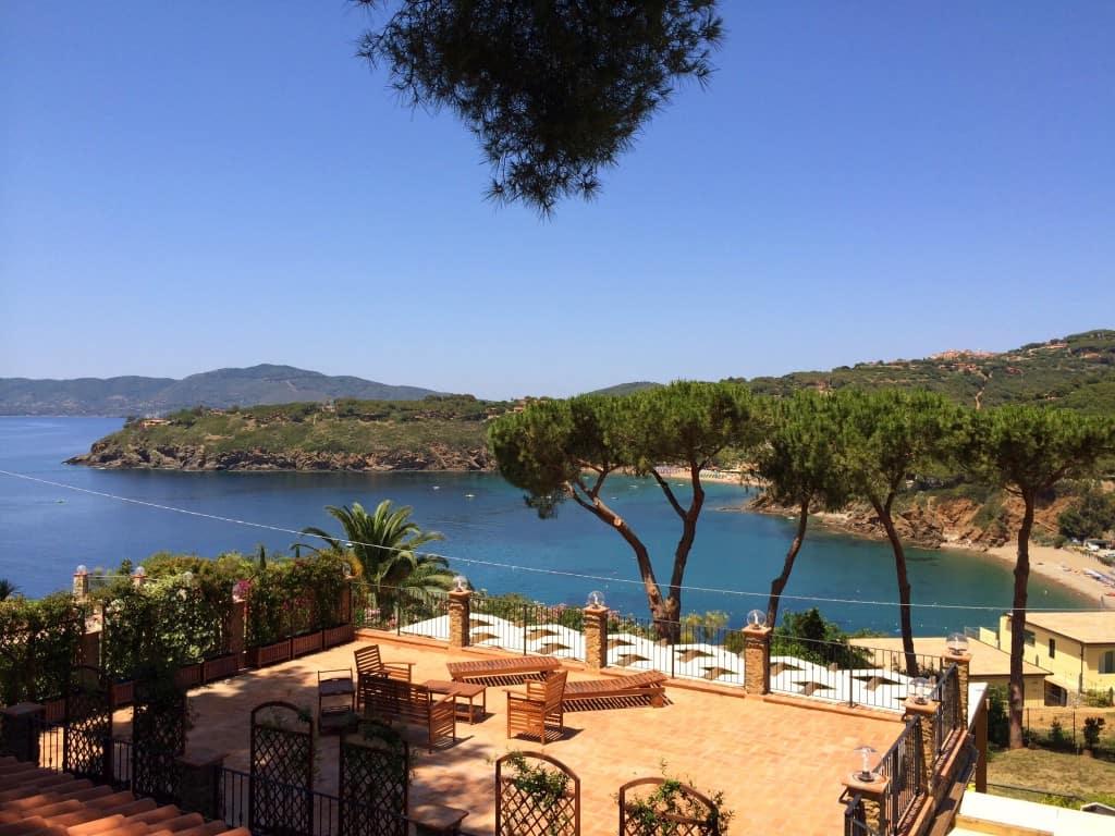 Blick von der Ferienwohnungs-Terrasse