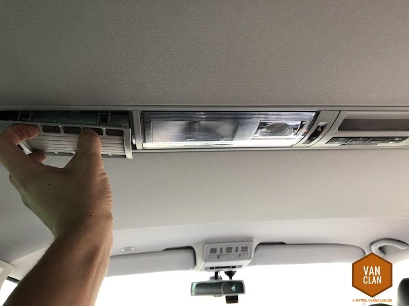 VW Bus T5 Multivan: Beleuchtung im Fahrgastraum auf LED