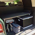 Kühlbox für Kompressor- und Peltierbetrieb im VW T5 Multivan