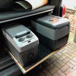 Vergleich der Kompressor-Kühlboxen Waeco Dometic CDF-11 und CDF-36 (im VW T5)