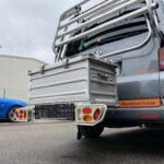 Transportbox / Kiste aus Radträger für die Anhängerkupplung bauen inkl. Solarmodul