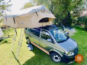 Großes Dachzelt für Familien auf dem VW T5 Multivan