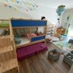 Ikea Kura Hochbett erweitern: Aus zwei mach eins plus Regal