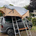 Abgeknickte gebrochene Zeltstange reparieren beim Dachzelt Gobi von Ocean-Cross